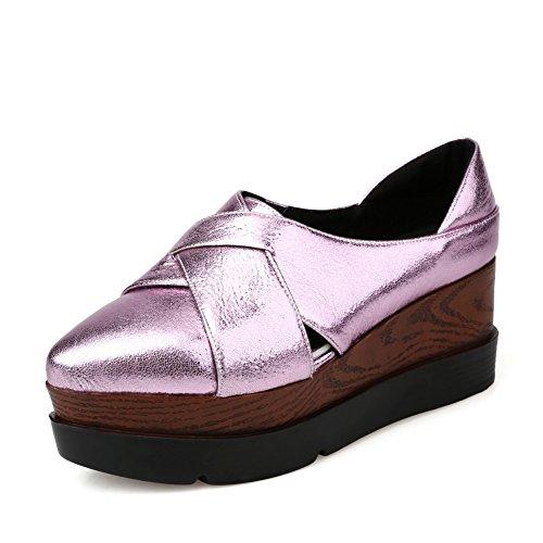 Adee Damen Farbe Passende Wasser Tisch Mikrofaser Pumpen Schuhe Violett