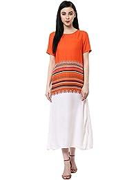 Akkriti by Pantaloons Women's Rayon Moss Dress