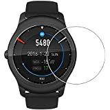 Taslar Premium Arc Edge Tempered Glass Screen Scratch Guard Protector for Ticwatch 2 Smartwatch,(Transparent)