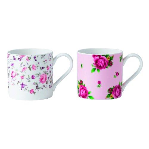 Royal Albert Teaware Set mit 2 Rose Confetti Tassen (Royal Roses)