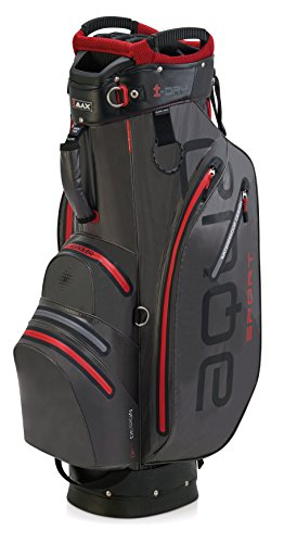 BIG MAX AQUA Sport 2 Golf Cartbag 2018 - 100% Wasserdicht (Charcoal/Black/Red)