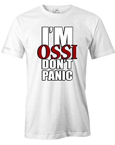 I´M OSSI DON´T PANIC - HERREN - T-SHIRT by Jayess Gr. S bis XXXL Weiß
