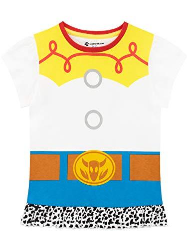 Disney Mädchen Toy Story T-Shirt Jessie Weiß 122 (Story Toy Jessie Aus Hat)