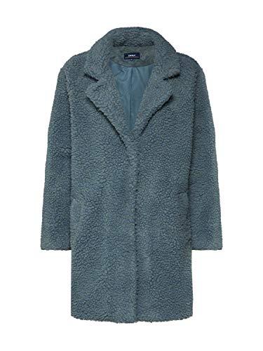 ONLY Damen Onlaurelia Sherpa Coat Cc OTW Mantel, Grün Balsam Green, Medium (Herstellergröße:M)