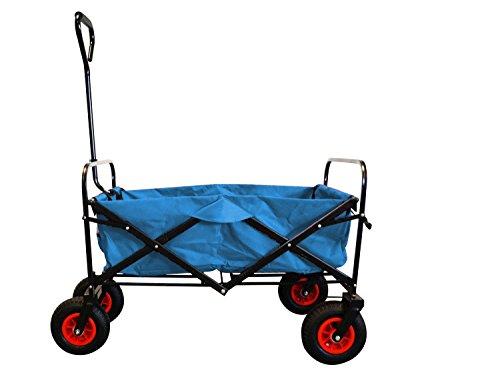 MAXOfit-Bollerwagen-in-hellblau-robuster-faltbarer-Handwagen-mit-Luftbereifung-inklusive-Schutzhlle