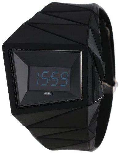 Alessi - AL22000 - Montre Mixte - Quartz Digital - Bracelet Plastique Noir