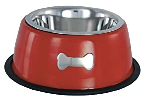 Buckingham Single Dog Bowl, Red, 0.45 Litre