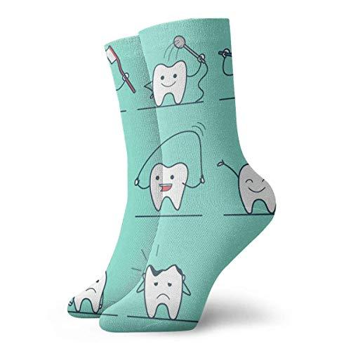 Socken Atmungsaktive Gesundheit Zähne Crew Socke Exotische Moderne Frauen & Männer Gedruckt Sport Sportliche Socken 30 cm (11,8 Zoll) -