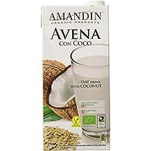 Amandin Bebida de Avena con Coco - Paquete de 6 x 1000 ml - Total:
