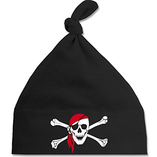 Bunt gemischt Baby - Totenkopf Pirat Kopftuch - Unisize - Schwarz - BZ15 - Baby Mütze mit einfachem Knoten als Geschenkidee (Böse Shirt Neue)