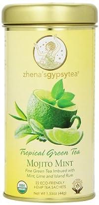 Zhena's Gypsy Tea, Mojito Mint Tropical Green Tea, 22 Count Tea Sachet