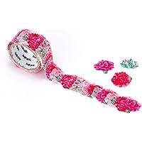 Bande adhesiva rollo adhesivo cinta de carrocero pegatinas de flores clavel para álbumes de recortes DIY (bda228)