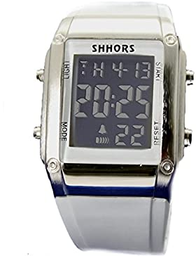 Chronograph Datum Alarm-Hintergrundbeleuchtung Gunmetal-Ton Lünette Unisex Digitaluhr