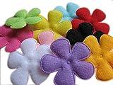 Yycraft, confezione da 80applicazioni in feltro da 5,1cm, motivo: fiore, in 16colori