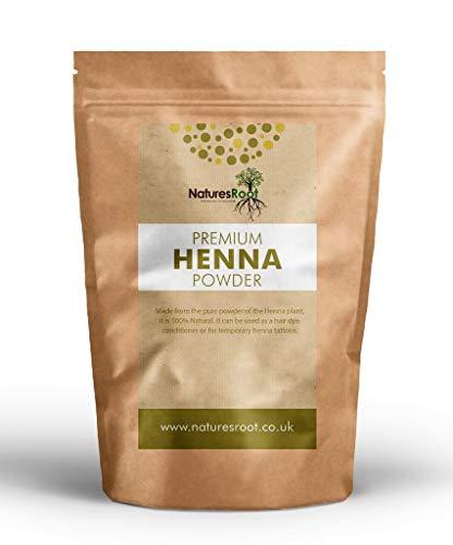 Natures Root Henna-Pulver (Lawsonia Inermis) 125g - 100% Natürlich | Haarfarbstoff | Henna-Tattoos | Körperkunst - Natürliche Henna-pulver