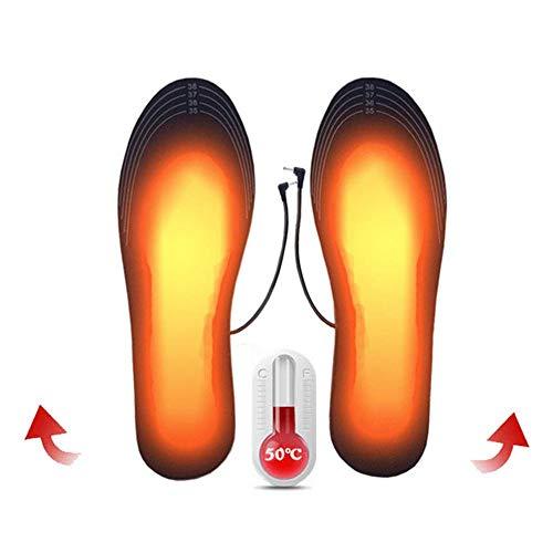 USB Ricaricabile Solette riscaldate, Scarpe riscaldata Solette scaldapiedi Soletta Lavabile Cut-to-Fit più Taglie Come Lo Sci, La Caccia, La Moto, L'Escursionismo, La Pesca e Altro Ancora (40-44)