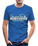 Spreadshirt Derbysieger Männer Slim Fit T-Shirt, S, Königsblau