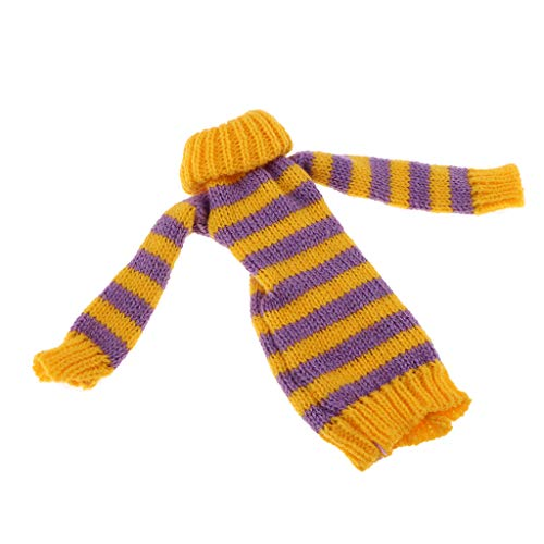 FLAMEER Schöne Puppe Lange Gestreifte Pullover Kleidung für 1/6 Mädchen Puppe Dress Up - Lila