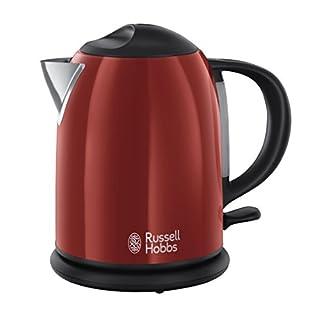 Russell Hobbs Kompakt-Wasserkocher Colours+ rot, 1,0l, 2200W, Schnellkochfunktion, optimierte Ausgusstülle, Wasserstandsanzeige, Füllmengenmarkierung, kleiner Reisewasserkocher, Teekocher 20191-70