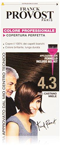 Franck Provost Colorazione Permanente Capelli, Tinta Copertura Ottima, Colore Professionale, 4.3 Castano Miele