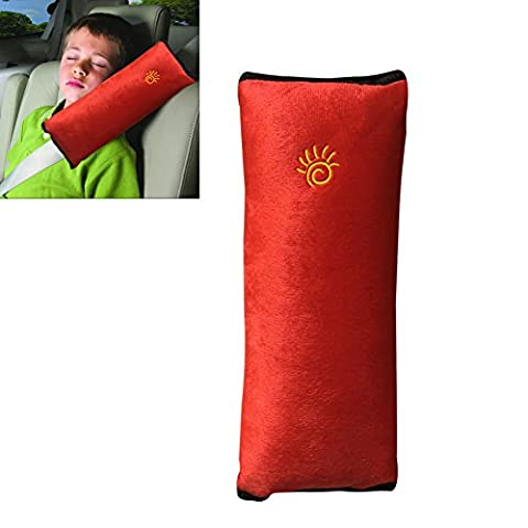 RGTOPONE Auto Pillow Airplane Car Safety Belt Soft Strap Buses Trains Shoulder Protector Vehicle Seatbelt Pad Cover Enhanced Design Softer and More Comfortable Neck/Head Support Sleep/Nap Headrest for Children Kid Adults, Protect Your Spine