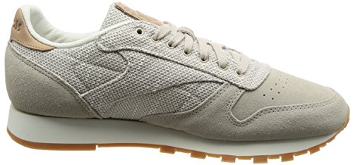 Reebok Cl Leather Ebk, Scarpe Da Fitness Uomo Marrone / Gesso (piedra Arenisca / Tiza)