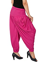 Several Side Pleats Style Dhoti Pant Of Women - Fashion And Freedom Women's Lycra Side Pleated Dhoti Patiala Salwar...