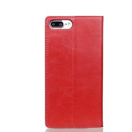 JIALUN-étui pour téléphone Crazy Horse Texture Pattern Case Fermeture magnétique Housse en cuir PU avec support Porte-cartes pour Apple iPhone 7 ( Color : 5 , Size : IPhone 7 ) 3
