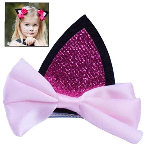 Mädchen-Rosa Haar-Stifte-Katze-Ohr-Haar-Clips Nette Haarspangen-Kostüm-Party Kopfbedeckung Haarschmuck Für Frauen
