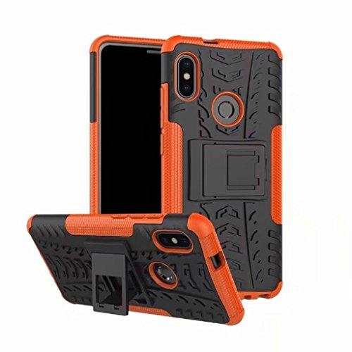 XiaoMi RedMi Note 5 Pro (6,0inch) Funda, 2in1 Armadura Combinación A Prueba de Choques Heavy Duty Escudo Cáscara Dura para XiaoMi RedMi Note 5 Pro (6,0inch) (Naranja)