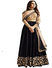 Ruri Enterprise Banglory Silk ANd Net Womens Semi Stitched Long Anarkali Suit(RURI_RE4_Free Size)