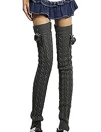 TININNA Jambières Legging Chaussettes Femmes Hiver Chaud Laine Longues Bas Guêtre Cuissard Huat Tressé Tricoter Boot Cover