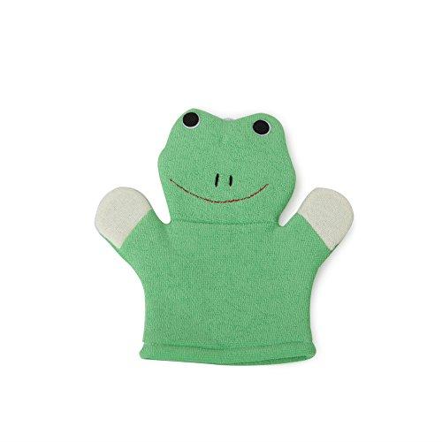 Moni Kinderwaschlappen Frosch 1601 grün, Badehandschuh im Froschdesign