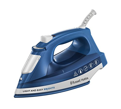 Russell Hobbs Light & Easy Brights - Plancha de Ropa de Vapor 2400W, Suela de Cerámica Coloreada...
