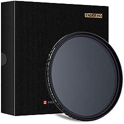 ZOMEi 58mm Variable ND Fader Filtre Densité Neutre ND2 - ND400 pour Nikon DF - Canon EOS 1DX | 5D Mark II + III | 5D | 6D | 7D | 10D | 30D | 40D | 50D | 60D | 70D | 1000D - Samsung NX NX10 NX11 NX20