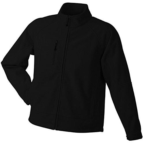 JN1006 Men's Bonded Fleece Jacket Funktionelle 3-lagige Fleecejacke Black-Red