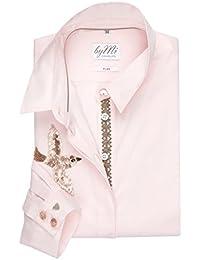 8044e9be6bfe9 byMi Hamburg chemisier et chemise de fête pour femmes avec patches  d oiseaux Goa Gajah