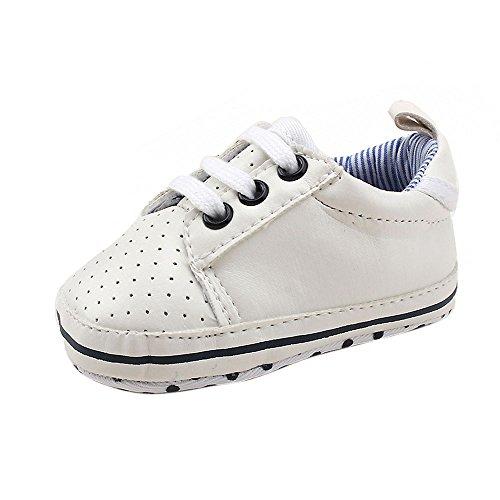 Converse-krippe-schuhe (Sannysis Mädchen Jungen Krippe Schuhe Soft Sohle Sneakers (Weiß, 11))