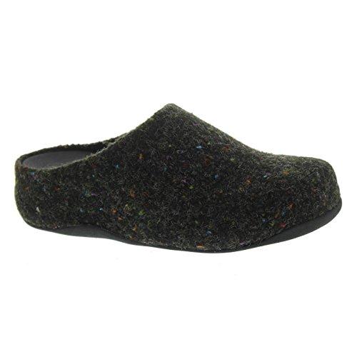 FitFlop Shuv Felt - Black Textile 6 UK (Fitflop Shuv Frauen)