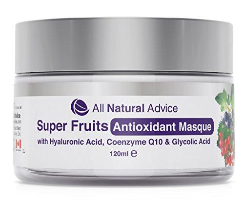 Antioxidans-Maske von All Natural Advice - Reinigende Gesichtsmaske für Männer und Frauen | aus kanadischer Herstellung | Organisch | | Natürliches Anti-Aging-Peeling mit grünem Tee - Alle Natürlichen Tee