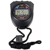Forestwood Digital Profesional Portátil LCD Cronógrafo Temporizador Deportes cronómetro,Profesional De Múltiples Funciones De Correr Temporizador De La Escuela Competencia Necesario