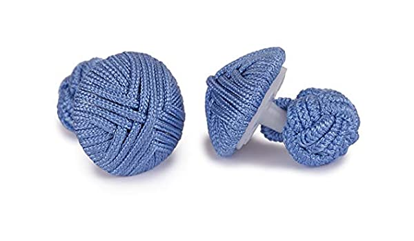 Bleu Hommes Sologemelos Boutons De Manchette Passementerie Ronds Taille Unique