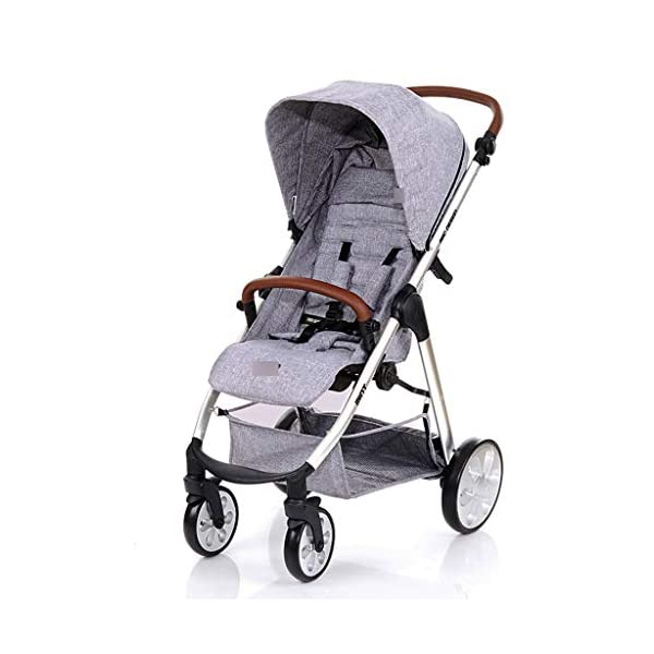 Baby Stroller One-button Car Stroller Shock Absorber Stroller Light High Landscape Can Sit Reclining Fold (Color : WHITE, Size : 111 * 89 * 60CM) Strollers Zhangsisi ☻【Scope of use】Twin strollers for urban and rural multi-purpose trolley bearing an amazing amount of public plate, and comfortable to use, powerful ☻【powerful functions】 Convenient for travel and driving, our baby car is easy to fold, small footprint, single wheel suspension, front tray, accessories, adjustable seat angle, sturdy frame with adjustable seat adjustment and comfortable fit baby chair. ☻【safe and comfort】 Baby can not afford to hurt, the most important health, safety and comfort, a key release of 5-point seat belts. 2