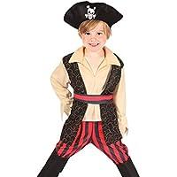 Boland 82238 - Costume da Pirata Rocco per bambini, 3-4 anni, Nero