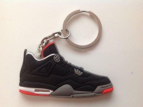 Jordan IV/4 Bred Black/Red LS Sneakers Shoes Keychain Keyring AJ 23 Retro by DarrellsWorld (Jordan Schuhe Sale Für Männer)