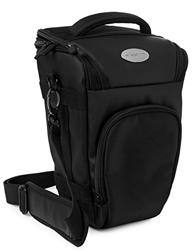 PRO NOVO II (L) Full-Size SLR Kameratasche Colttasche schwarz (mit Schultergurt, Beckengurt, Gurttunnel, Regencape)