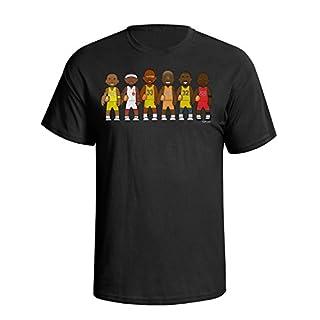 VIPwees Basketball Legends Mens Herren Caricature Sport T-shirt