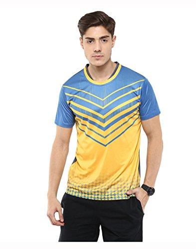 Yepme-T-shirt--col-rond-Barry-bleu-et-jaune