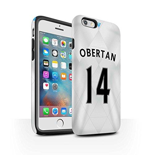 Offiziell Newcastle United FC Hülle / Matte Harten Stoßfest Case für Apple iPhone 6+/Plus 5.5 / Pack 29pcs Muster / NUFC Trikot Away 15/16 Kollektion Obertan