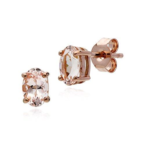 Gemondo Morganit Ohrring, 9ct Rose Gold 0,81ct Morganit Ohrstecker (Rose Gold Morganit Ohrringe)